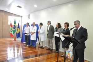 Solenidade de inauguração do bloco didático-pedagógico para o curso de Medicina realizada no dia 26 de setembro de 2014. Foto: Wagner Behr / Agecom / UFSC