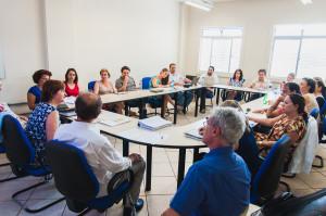Reitoras participam de reunião do Conselho de Unidade do CED. (Foto: Jair Quint/Agecom)