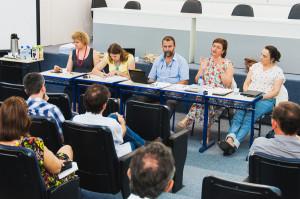 Administração Central e Conselho de Unidade do CFH em reunião realizada no dia 12 de dezembro de 2014. Foto: Jair Quint/Agecom/UFSC