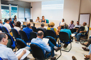 Reitoras participam de reunião do Conselho de Unidade do CTC nesta quarta-feira, dia 10. (Foto: Jair Quint/Agecom)