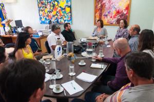 Reitoras da UFSC recebem autoridades do Incra e agricultores para balanço das atividades desenvolvidas. Foto: Henrique Almeida/Agecom/UFSC